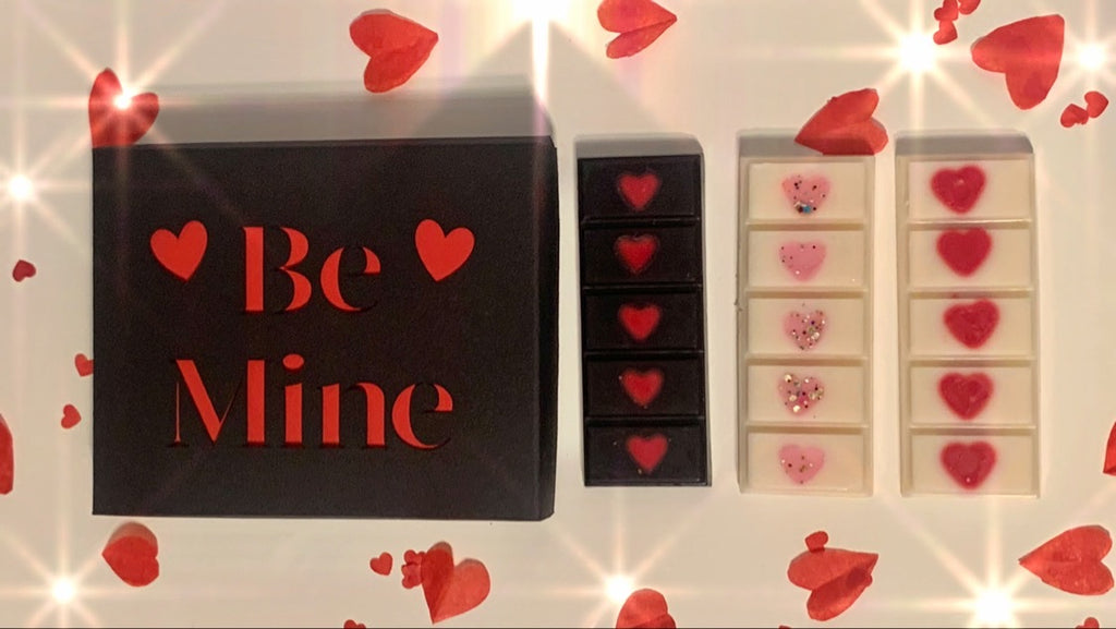 Bowzos 'Be Mine' Wax Melt Gift Box - Valentine's Day (Free UK Delivery)