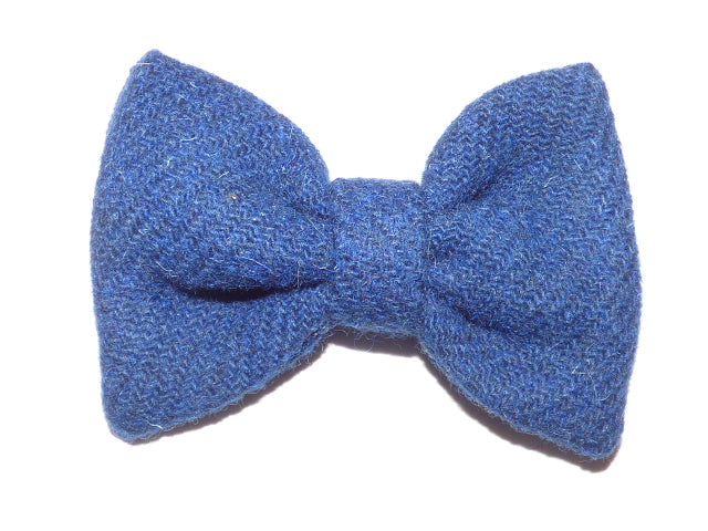 (Balmoral) Bowzos Bow - Harris Tweed Blue - BOWZOS