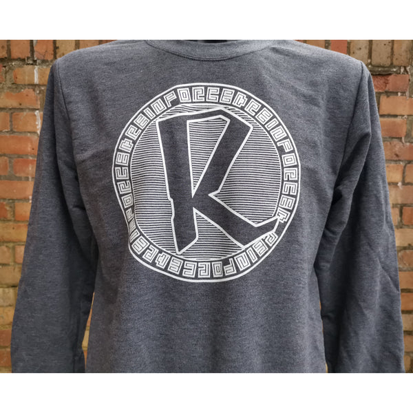 Reinforced Sovereign Crewneck Sweater - Dark Heather Grey