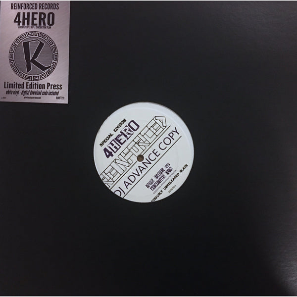 "4 HERO - Angry People(VIP)/Evacuation Plan - Limited Edition 12"" Vinyl."