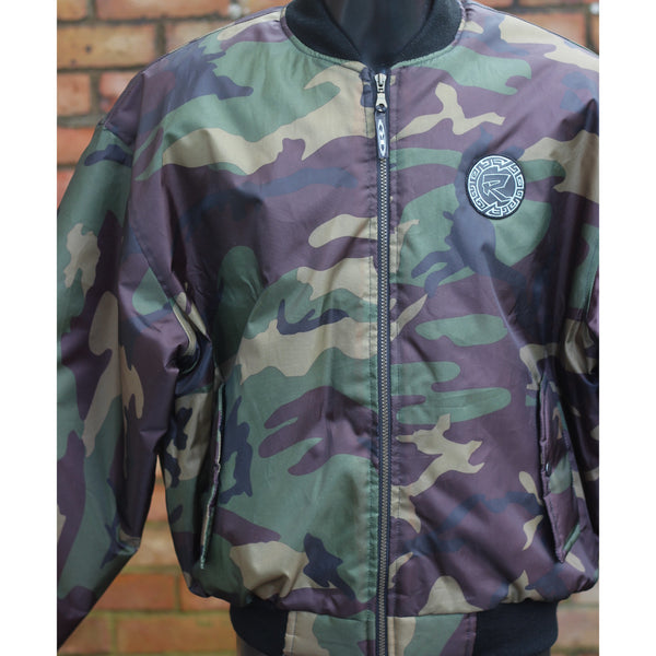 Reinforced CAMO MA1 style Bomber Jacket - (patch embroidery)