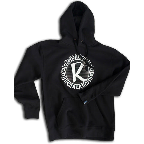Reinforced Black Hooded Sweatshirt (hoodie) Circuit Print