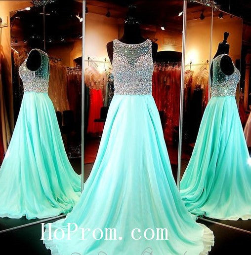 Elegant Beading Prom Dresses,Chiffon Prom Dress, Evening Dresses