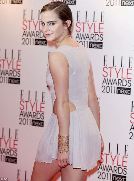 White Emma Watson Side Cutouts Party Dress Short Prom Red Carpet Formal Dress Style Awards