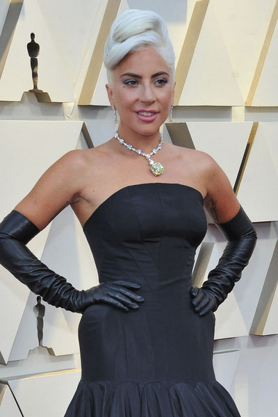 Black Lady Gaga Mermaid Dress Strapless Prom Celebrity Gowns Red Carpet Dress Oscars