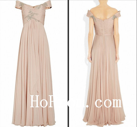 Handmade Prom Dress,Off Shoulder Prom Dresses,Evening Dress