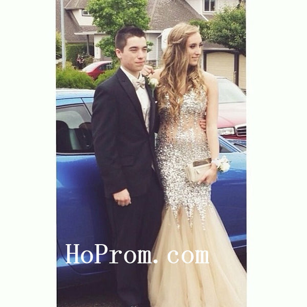 Sequin Prom Dresses,Spaghetti Straps Prom Dress,Evening Dresses