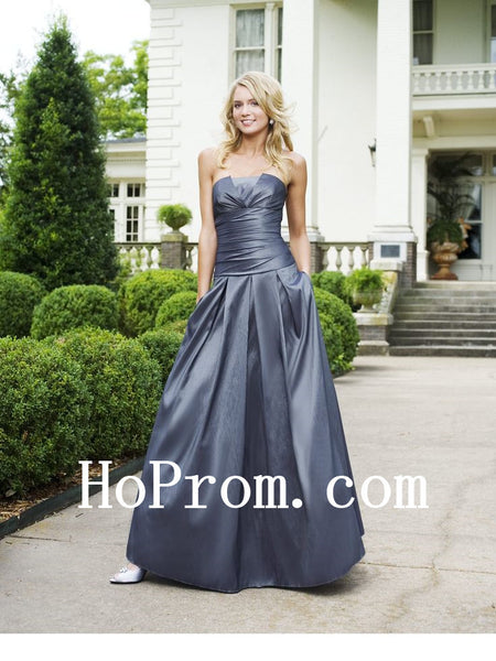 Dark Grey Prom Dresses,Satin Prom Dress,Long Evening Dress
