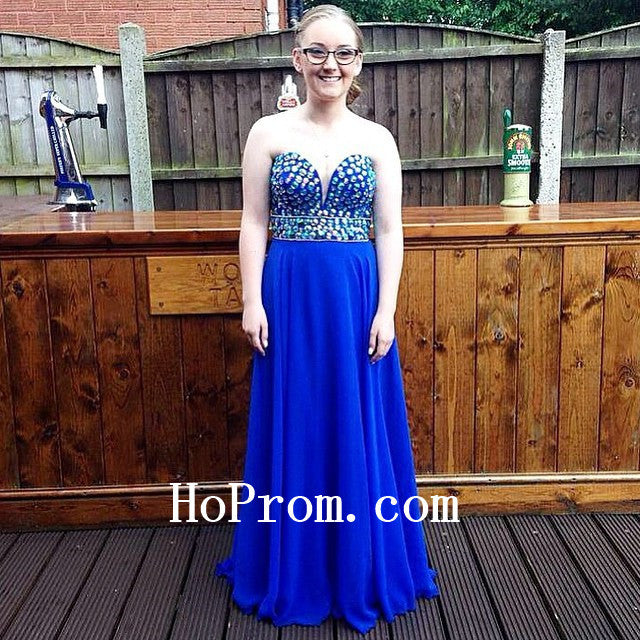 Royal Blue Prom Dresses,Long Prom Dress,Evening Dresses