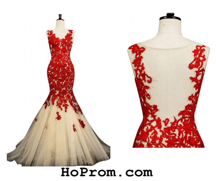 Red Prom Dresses Mermaid Prom Dresses Red Mermaid Evening Dresses