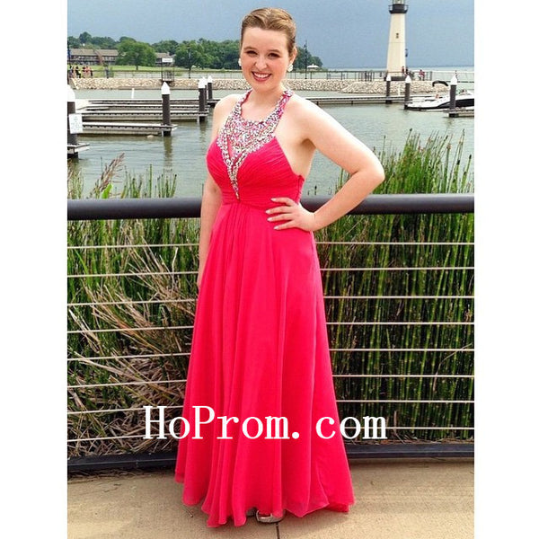 Long Red Prom Dresses,Halter Prom Dress,Evening Dresses