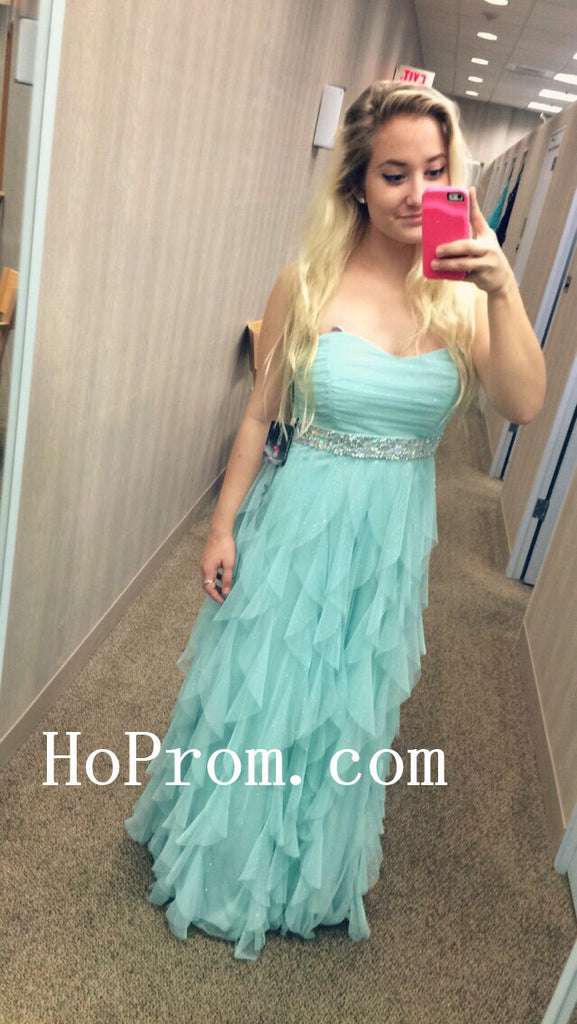 Strapless Chiffon Prom Dresses,Ruffles Prom Dress,Evening Dress
