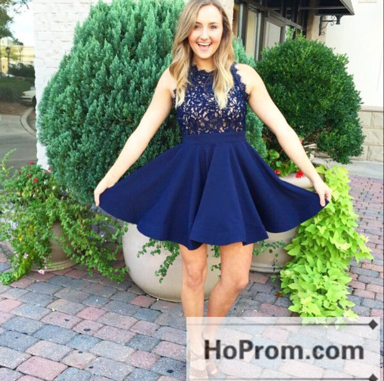 Short Mini Sleeveless A-Line Prom Dresses Homecoming Dresses