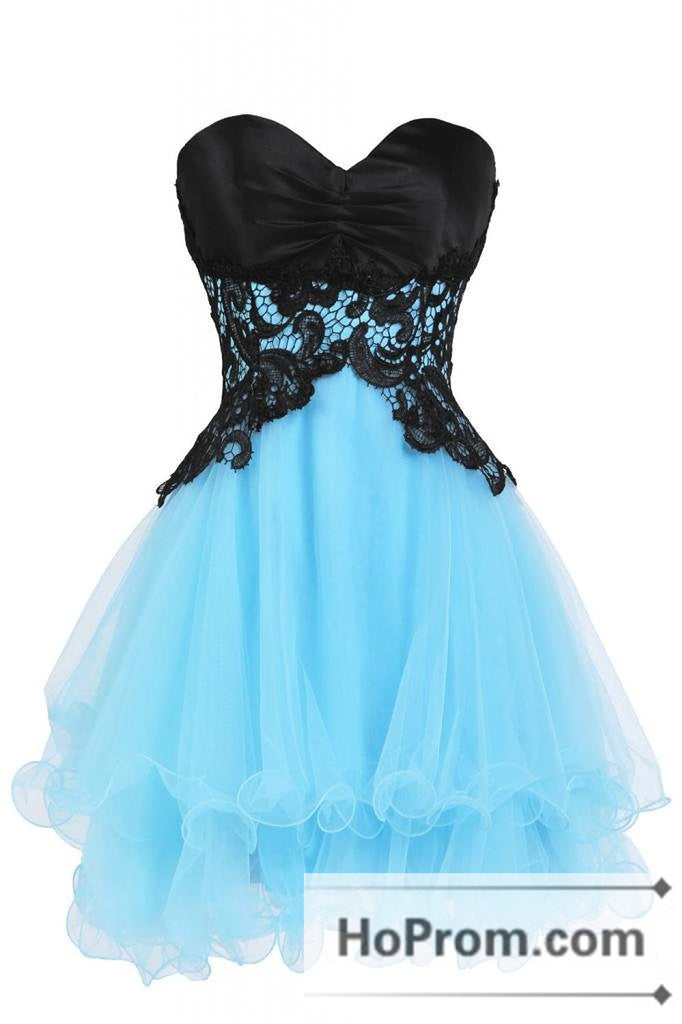 Mini A-Line Organza Sweetheart Prom Dresses Homecoming Dresses