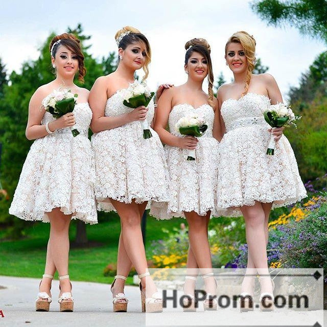 Flower Knee Length Cute Prom Dresses Homecoming Dresses