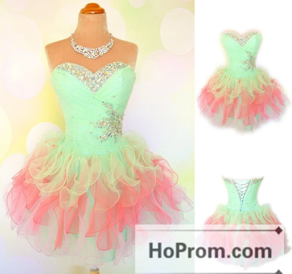 Sweetheart A-Line Tulle Short Prom Dresses Homecoming Dresses