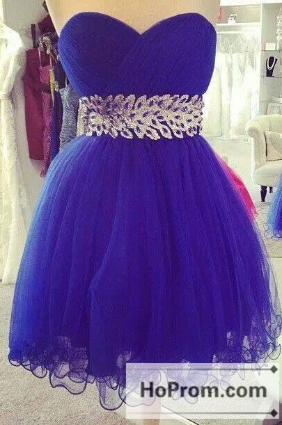 Sweetheart Purple Tulle A-Line Prom Dresses Homecoming Dresses