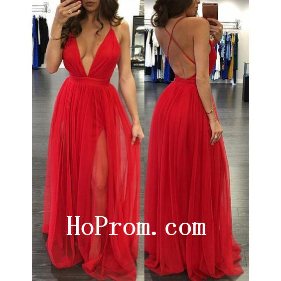 Red Prom Dresses,Spaghetti Straps Prom Dress,Evening Dress