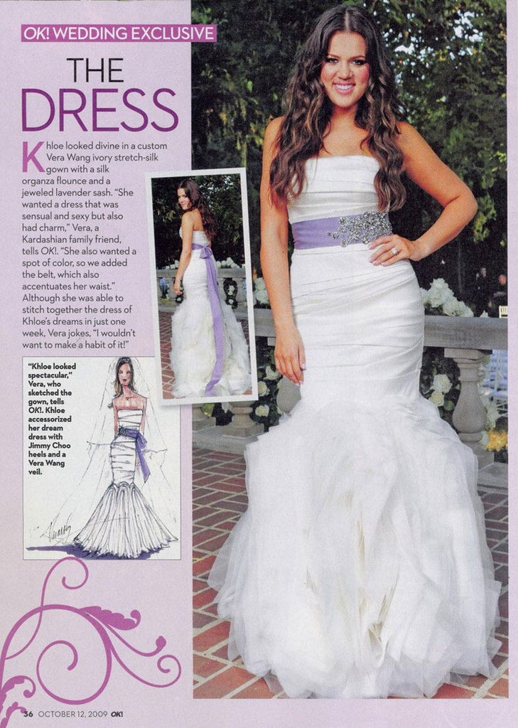 White Purple Khloe Kardashian Mermaid Strapless Sequins Wedding Dress Celebrity Bridal Dress For Sale Online