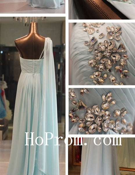 Sky Blue Prom Dresses,A-Line Prom Dress,Evening Dresses