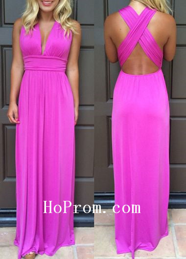Purple Chiffon Prom Dresses,Long Prom Dress,Evening Dress