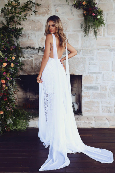 Summer Beach Wedding Bridal Dress, Boho Wedding Dress
