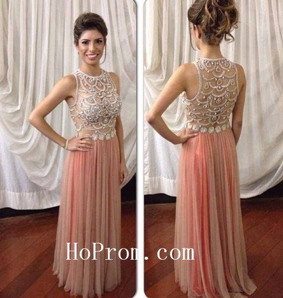 See Through Prom Dresses,Chiffon Prom Dress, Evening Dresses