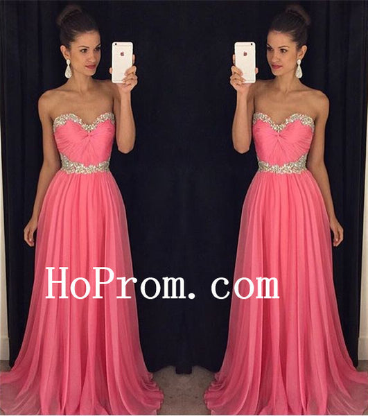A-Line Simple Prom Dresses,Sweetheart Pink Prom Dress,Evening Dress
