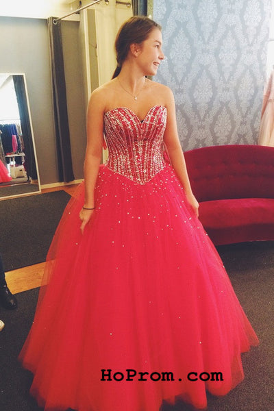 A Line Tulle Prom Dresses Sweetheart Prom Dress Evening Dresses
