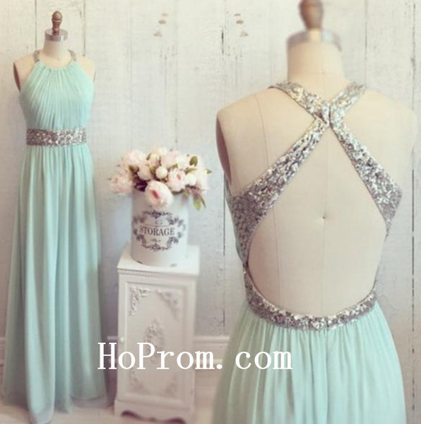 Simple Chiffon Prom Dresses,Backless Prom Dress,Evening Dress