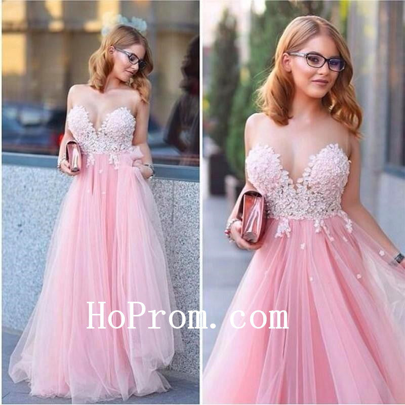 Cute Sweetheart Prom Dresses,Pink Prom Dress,Evening Dress