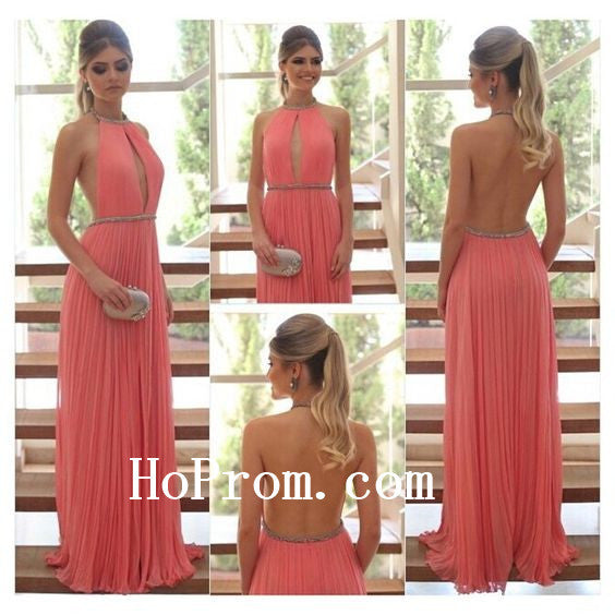 A-Line Prom Dresses,Simple Halter Prom Dress,Evening Dress