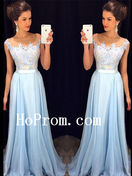 A-Line Prom Dresses,Applique Prom Dress,Beading Evening Dress
