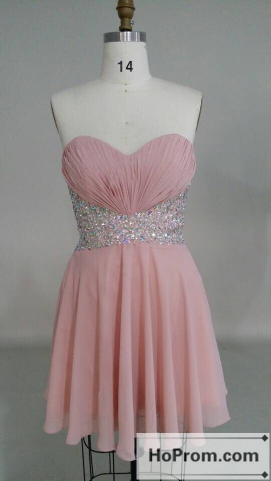 Sweetheart A-Line Pink Mini Prom Dresses Homecoming Dresses