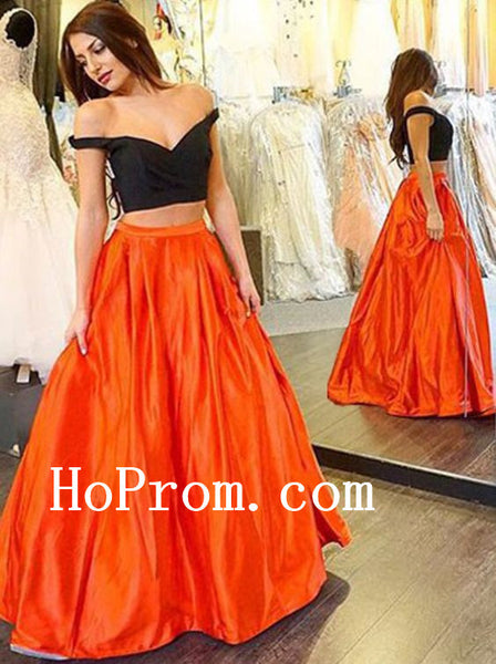 Black Long Prom Dresses,Two Piece Prom Dress,Evening Dress