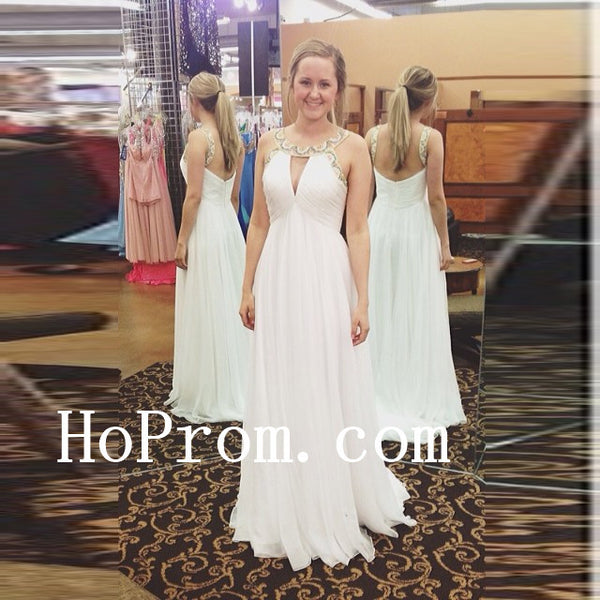 Lovely A-Line Dresses,White Prom Dress,Evening Dress