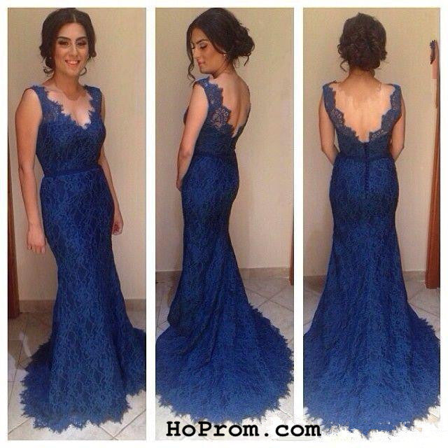 Navy Blue Lace Prom Dresses Lace Prom Dress Evening Dresses