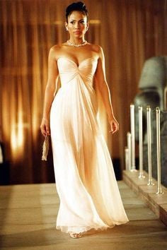 Pink Jennifer Lopez (J.Lo) Strapless Prom Celebrity Dress Maid in Manhattan