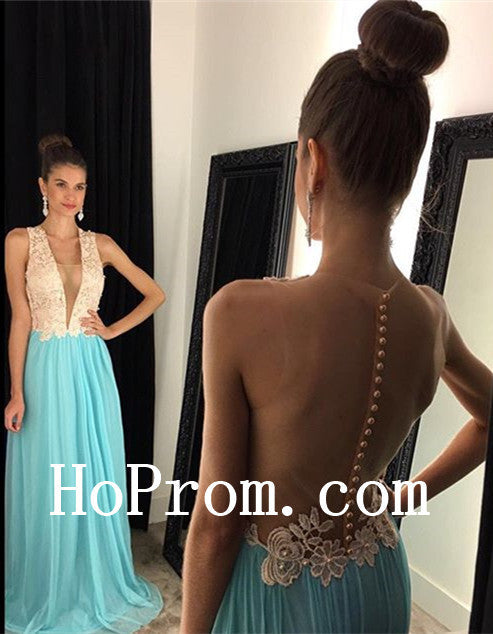 Open Back Prom Dresses,Applique Prom Dress,Evening Dress