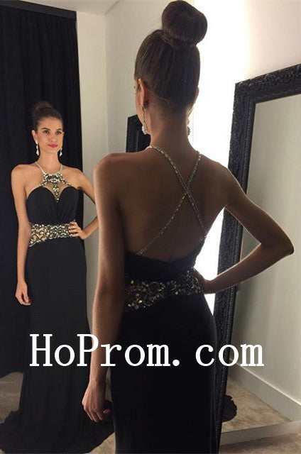 Black Prom Dresses,Spaghetti Straps Prom Dress,Evening Dress