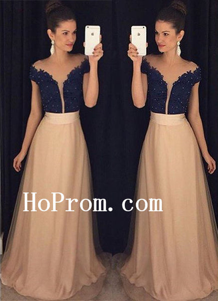 Short Sleeve Prom Dresses,Beading Prom Dress,Evening Dress