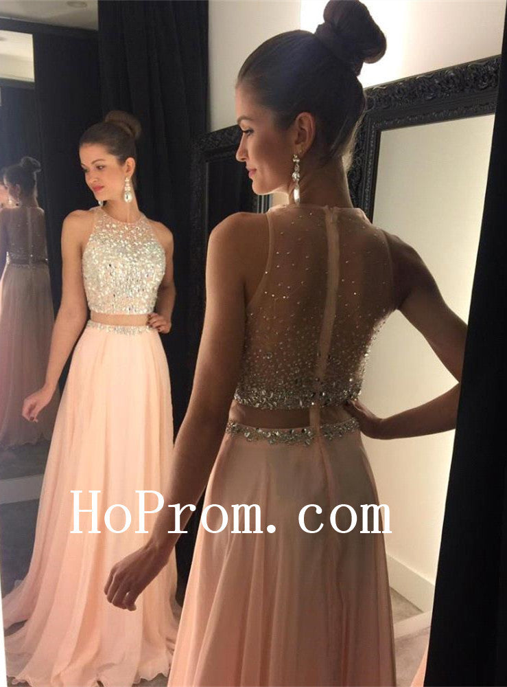 Zipper Back Prom Dresses,Long Prom Dress,Pink Evening Dress
