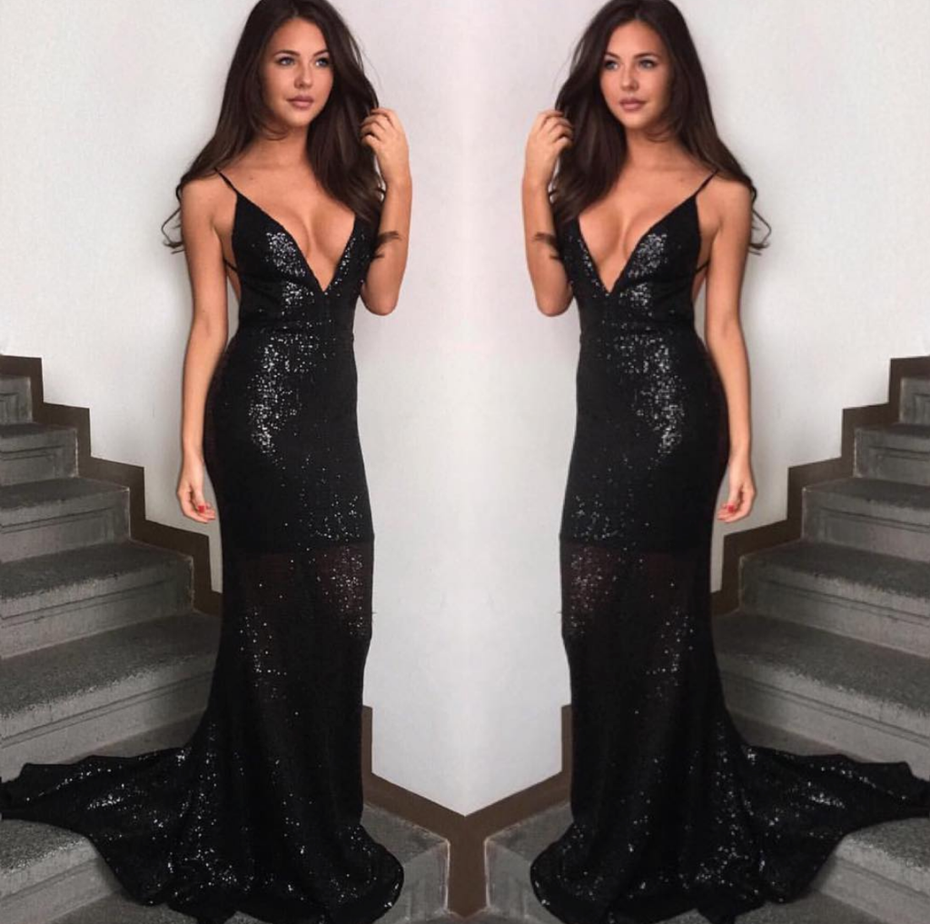 0d0ea22350d Long Black Sequin Evening Dresses - Gomes Weine AG
