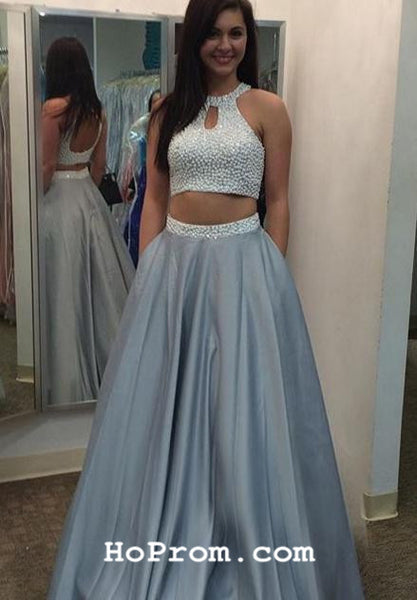 Two Piece Prom Dress Long Two Piece Prom Dresses Two Piece Evening Dress