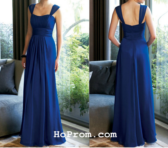 Long Prom Dresses Two Staps Prom Dress Long Bridesmaid Dresses