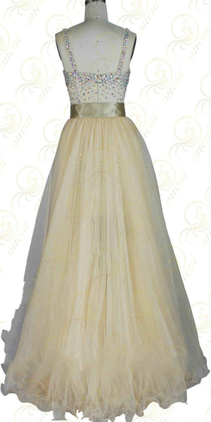 Twinset Tulle Prom Dresses,Long Prom Dress,Evening Dress
