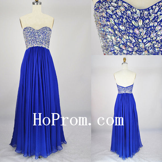 Cute Sweetheart Prom Dresses,Royal Blue Prom Dress,Evening Dress