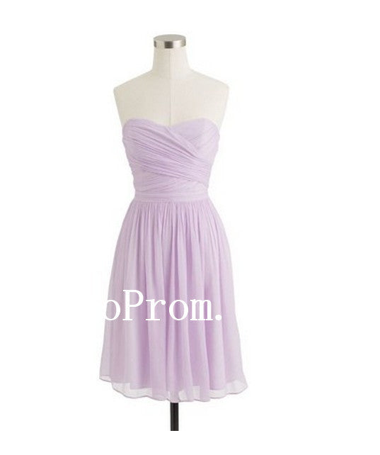 Light Purple Prom Dresses,Sweet Short Prom Dress,Evening Dress