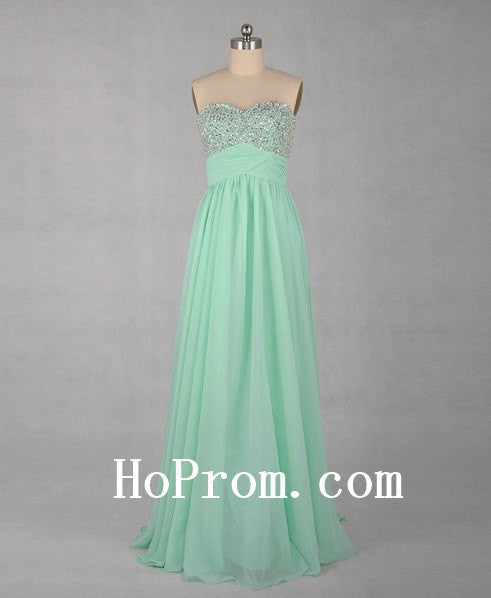 Light Green Prom Dresses,Chiffon Prom Dress,Evening Dress