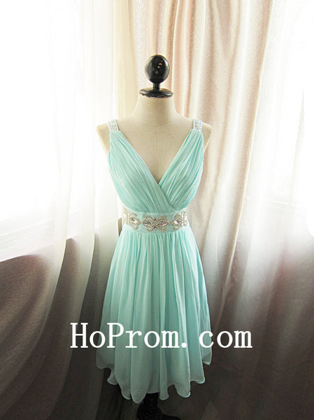 Straps Short Prom Dresses,V-Neck Prom Dress,Evening Dress